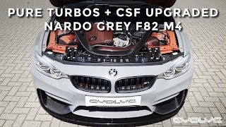 Pure Hybrid Turbo + CSF upgrades to a Nardo Grey F82 M4