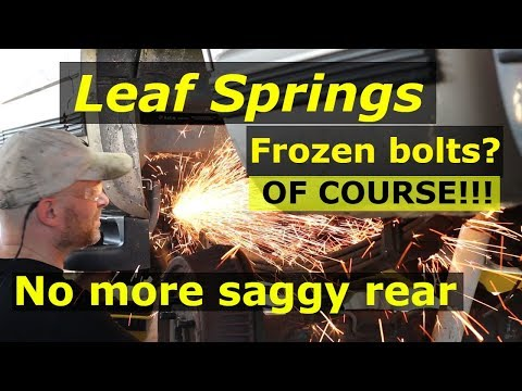 Rear leaf springs – Remove & Replace GMC