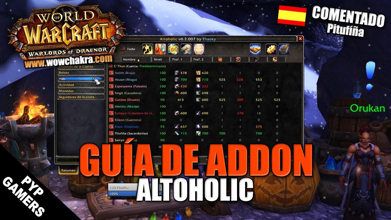 Altoholic Addon [#wow] guía del addon altoholic   world of warcraft