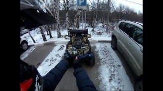 Новогодняя покатушка по лесу на квадроцикле IRBIS ATV 150U LUX/ ATV Andrew