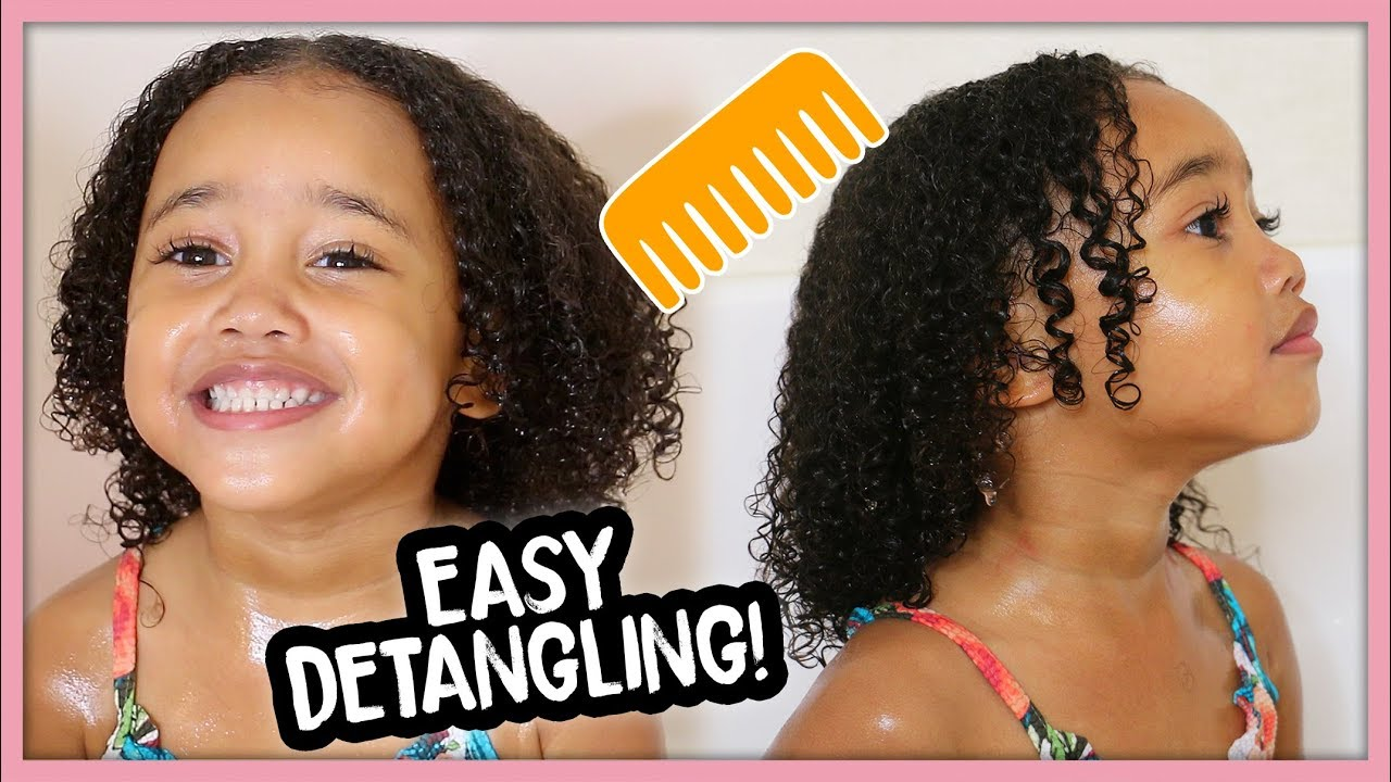 Kids Curly Hair Wash Day Routine For Easy Detangling Youtube