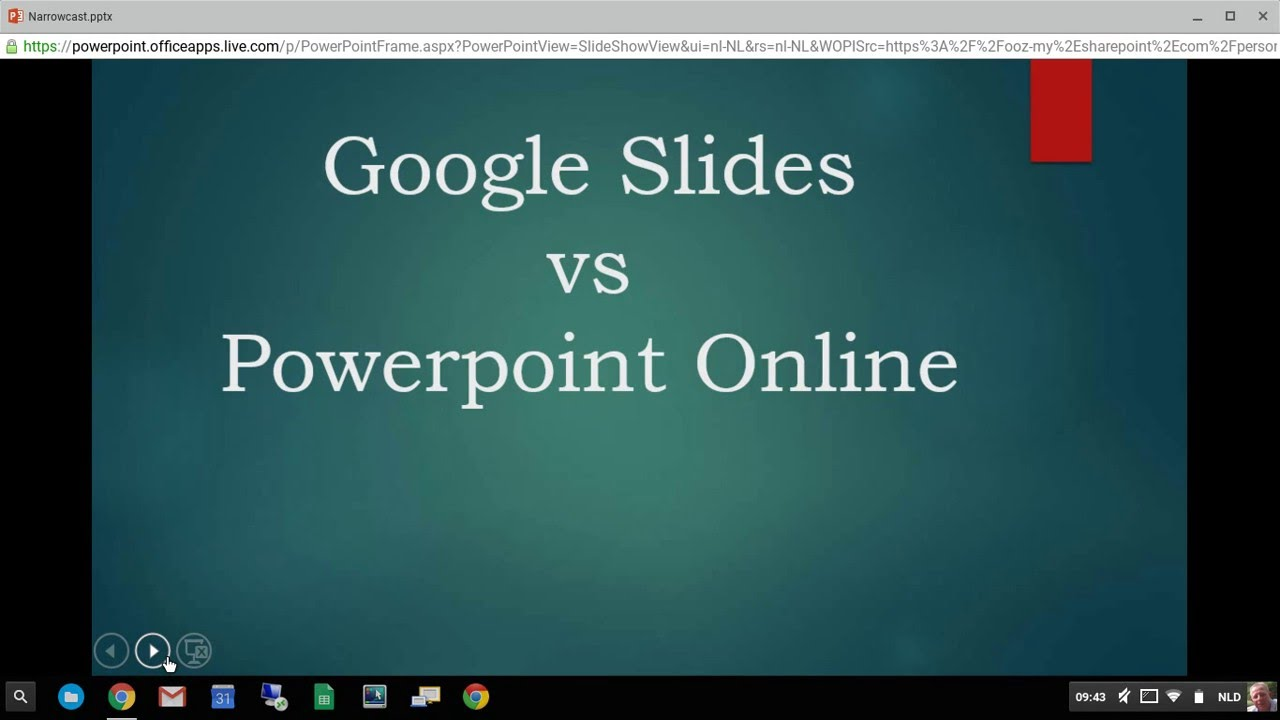 google slide vs powerpoint online on a chromebook youtube