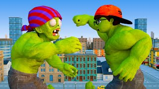 NickHulk vs Zombie - Nick Love Tani Hero Scary Teacher 3D Animation