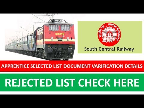 apprentice selected list south central railways | scr apprentice selected list