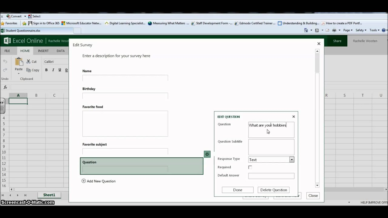 how to make surveys how to create a survey using excel survey youtube 2921