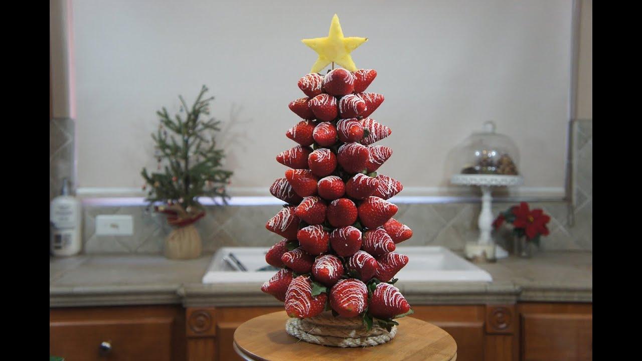 rbol de navidad de fresas receta saludable baking day