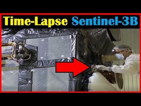 [Time-Lapse] How to Prepare a Satellite for Space Launch [Sentinel-3B]