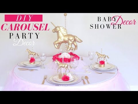 Carousel DIY  Party Decorations | DIY Baby Shower Decorations | DIY Birthday Party Decor for Girls