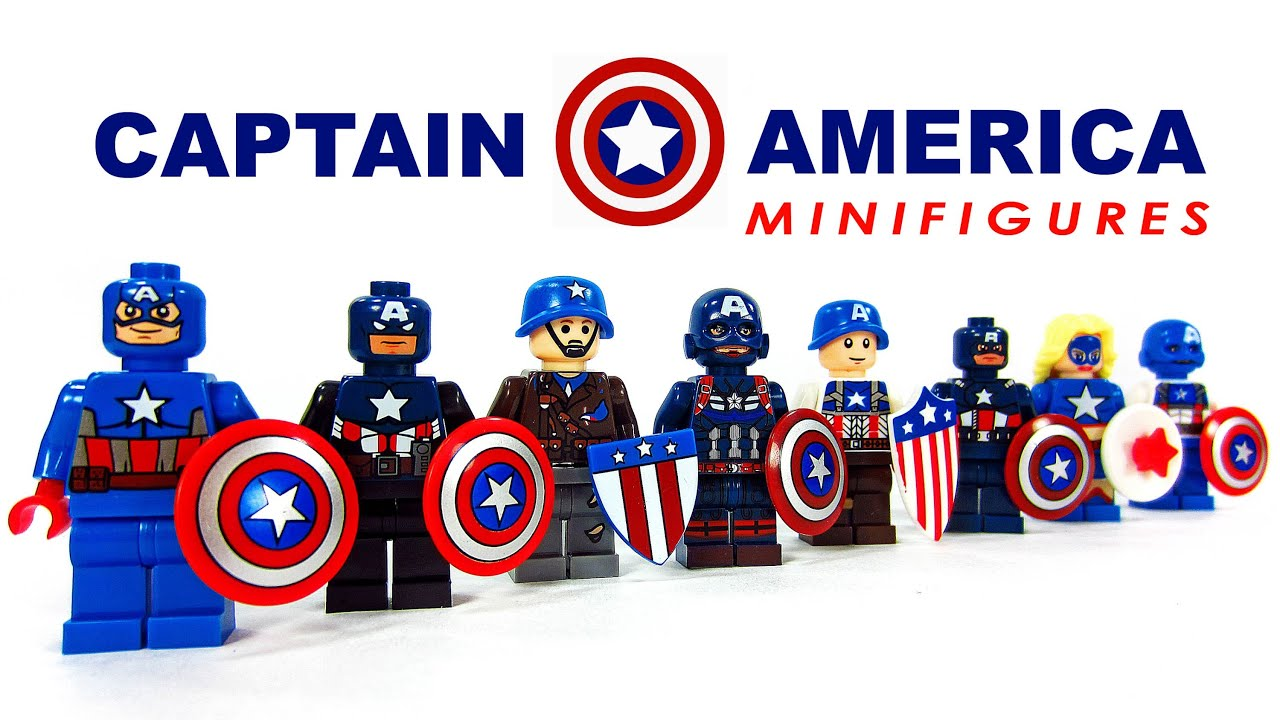 Lego captain america the winter soldier knockoff minifigures set 1 bootleg youtube - Lego capitaine america ...