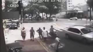 flagrante de assalto seguido de atropelamento em Aguas de Lindoia
