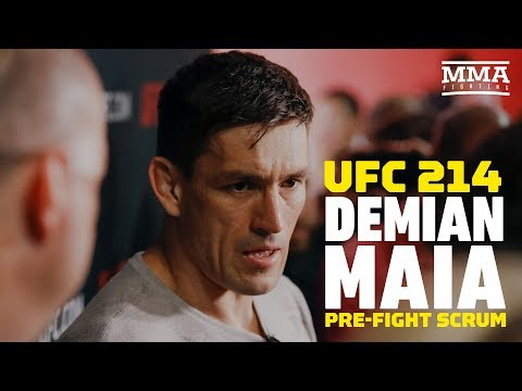 Demian Maia UFC 214 Open Workout Media Scrum - MMA Fighting