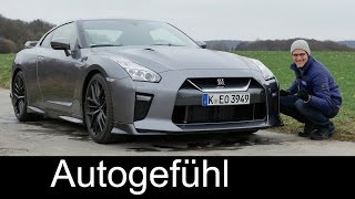 Autobahn Godzilla: Nissan GT-R FULL REVIEW test driven Facelift 570 hp Launch Control Acceleration