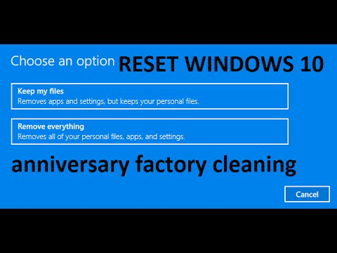 How to    Restore/Reset Windows 10 to Factory Setting ...