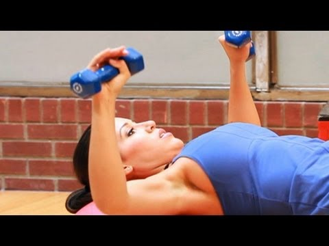 How to Do a Chest Press with a Ball   Female Bodybuilding