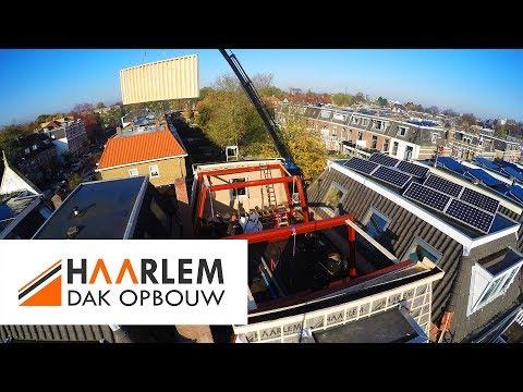 Compleet nieuwe verdieping in 1 dag - Thorbeckestraat, Leiden - Haarlem Dakopbouw