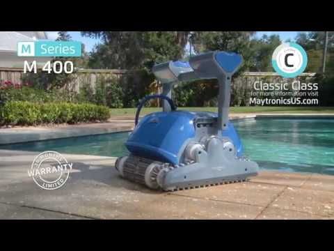 Dolphin M 400 Robotic Pool Cleaner By Maytronics Youtube