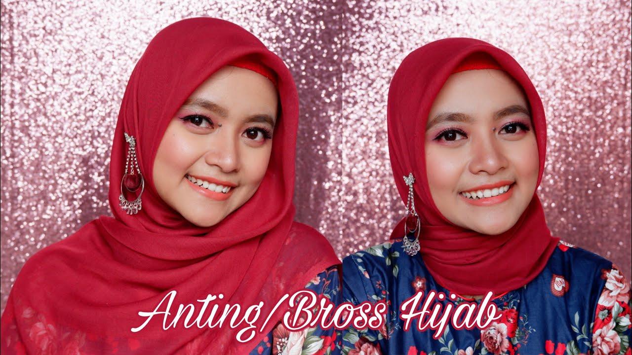 Tips Hijab Pakai Anting Bross Seftin Prahaswati Easy Hijab Tutorial With Earrings Youtube