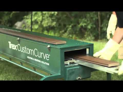 Trex Customcurve Deck Parts Bending Glenbrook U Youtube