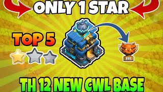 NEW TOP 5 TH 12 WAR BASE WITH LINK || BEST TH 12 ANTI 1 STAR WAR BASE || CLASH OF CLAN ||