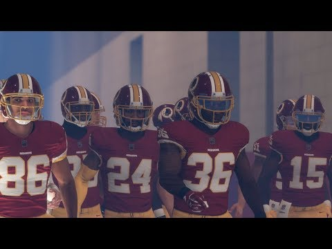 Madden 18 Giants vs Redskins All Madden | PS4 Pro Gameplay