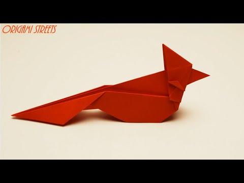 Как сделать птицу из бумаги. Оригами птица из бумаги