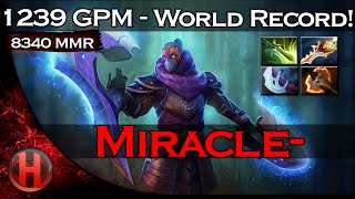 Miracle- BEST Anti-Mage 1239GPM World Record Dota 2