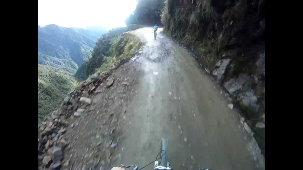 Death Road Bolivia. Norwegian biking expedition. El camino del la Muerte