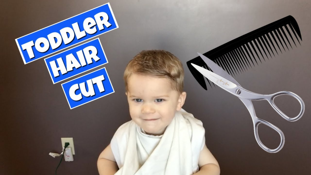 How To Cut Toddler Boy Hair - YouTube