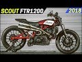 NEW 2018 Scout FTR1200 Custom Concept - Indian Motorcycle Flat-Tracker For Street
