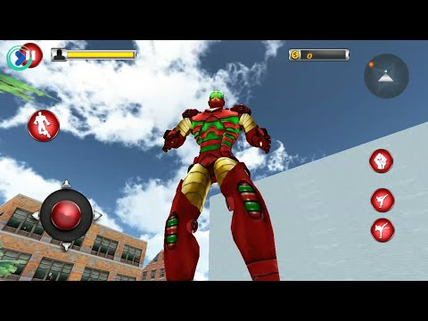 Flying Robot Superhero: Crime City Rescue - Android Gameplay HD