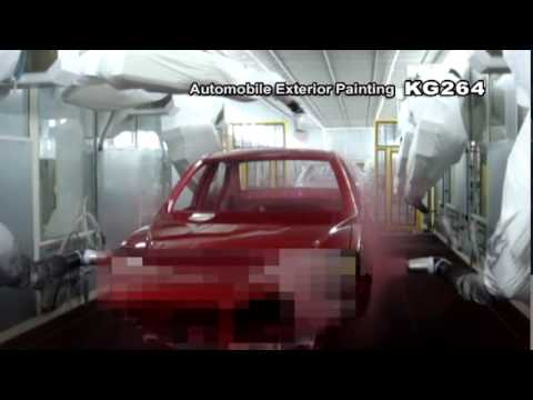 Kawasaki Robot Otomobil Kaporta Boyama Kg264 Youtube