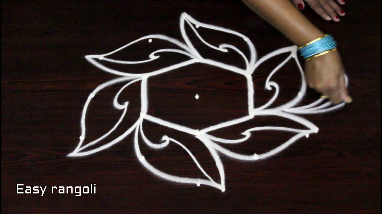 easy & simple rangoli designs with 5 dots * beautiful ...