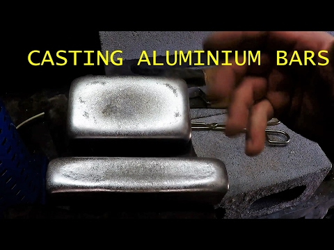 Casting Aluminium Bars from Scrap