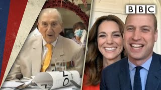 William and Kate video call veterans' party 🥳 | VE Day 75 - BBC