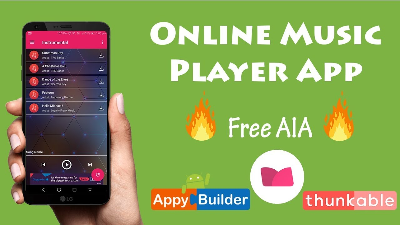 [Hindi] Dynamic Online Music Player like Gaana & Saavan in Kodular  (Makeroid) or any app builder
