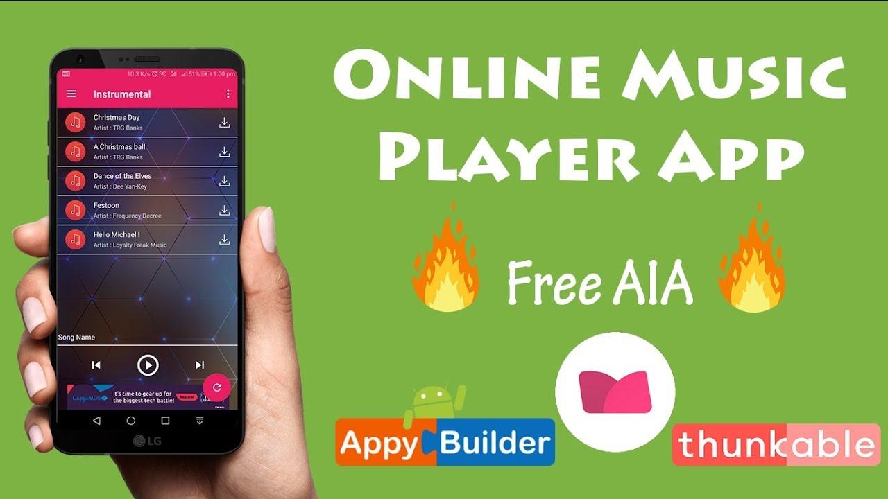Hindi Dynamic Online Music Player Like Gaana Saavan In Kodular Makeroid Or Any App Builder Youtube