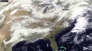 GOES Satellite Movie of 2014 Winter Storms