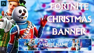 Fortnite Christmas Banner - (Free PSD)