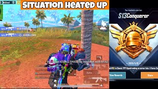 Situation Heated UP In Conqueror Tier | PUBG Mobile | Mr Spike