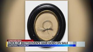 Lock of Beethoven's Hair on Sale