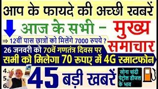 Today Breaking News ! आज 23 जनवरी के मुख्य समाचार, 23 January 2019 PM Modi Petrol, Bank, SBI jobs