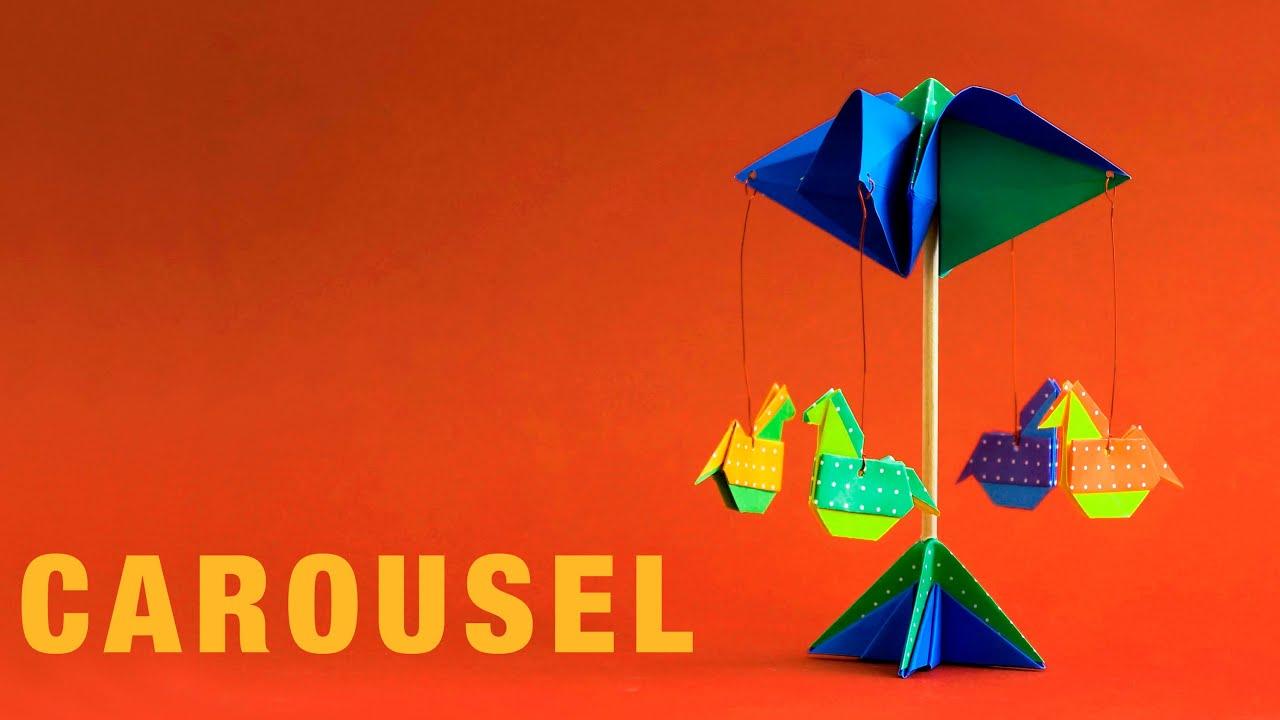Papercraft Origami Carousel : : Carrusel - Calesita - Tiovivo