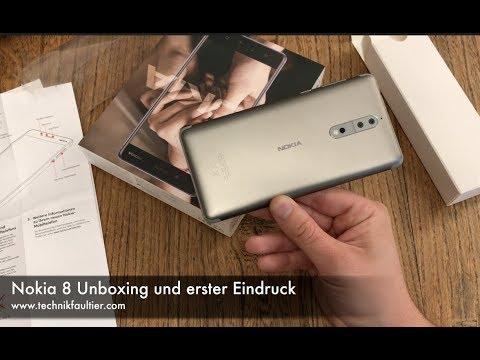 Nokia 8 Unboxing und erster Eindruck