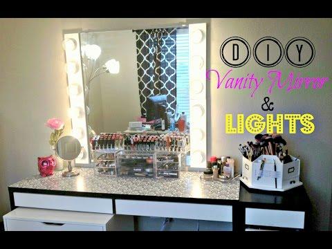 DIY Vanity Mirror with Lights [UNDER $100]