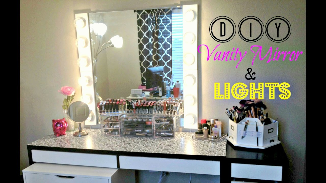 DIY Vanity Mirror with Lights [UNDER USD 100] - YouTube