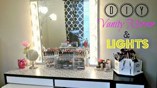 Room Makeover Part 2 - Diy Vanity Mirror And Lights