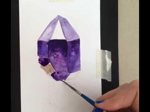 Как нарисовать минералы