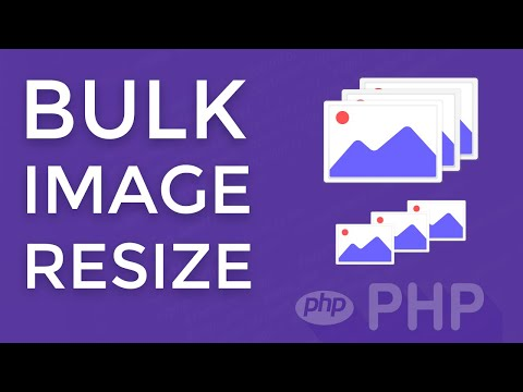 Bulk image resize with PHP