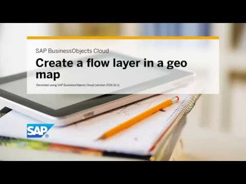 Create a flow layer in a geo map: SAP BusinessObjects Cloud (2016.16.1)