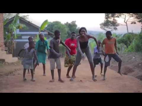 Village Children Dance With Sherrie Silver in Uganda